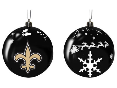 "New Orleans Saints Memory Company 3"" Sled Glass Ball Ornament"