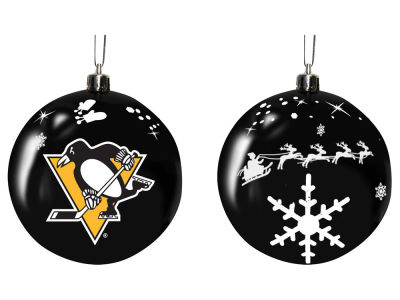 "Pittsburgh Penguins Memory Company 3"" Sled Glass Ball Ornament"