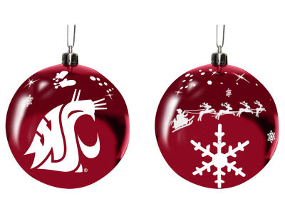 "Washington State Cougars Memory Company 3"" Sled Glass Ball Ornament"