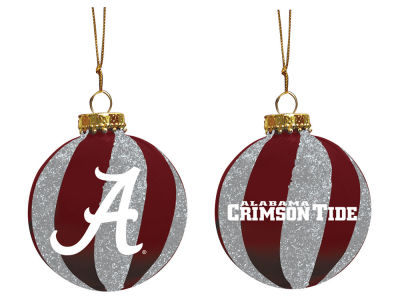 "Alabama Crimson Tide Memory Company 3"" Sparkle Glass Ball Ornament"