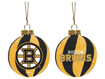 "Boston Bruins Memory Company 3"" Sparkle Glass Ball Ornament"