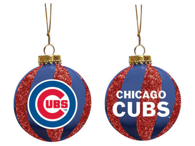"Chicago Cubs Memory Company 3"" Sparkle Glass Ball Ornament"