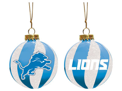 "Detroit Lions Memory Company 3"" Sparkle Glass Ball Ornament"