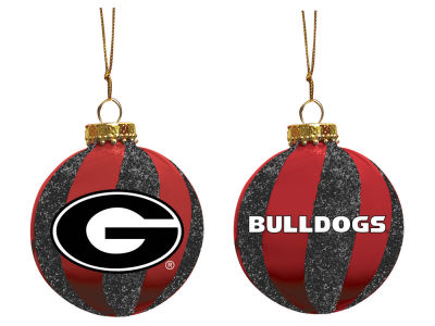 "Georgia Bulldogs Memory Company 3"" Sparkle Glass Ball Ornament"