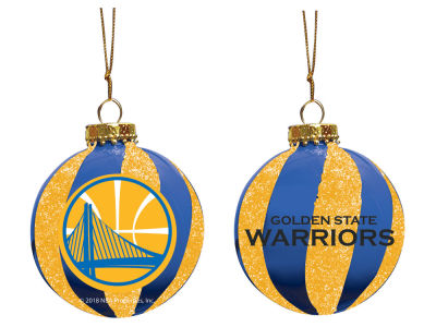 "Golden State Warriors Memory Company 3"" Sparkle Glass Ball Ornament"