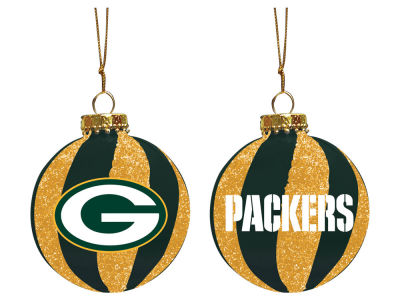 "Green Bay Packers Memory Company 3"" Sparkle Glass Ball Ornament"