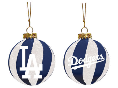 "Los Angeles Dodgers Memory Company 3"" Sparkle Glass Ball Ornament"
