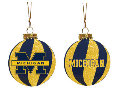 "Michigan Wolverines Memory Company 3"" Sparkle Glass Ball Ornament"