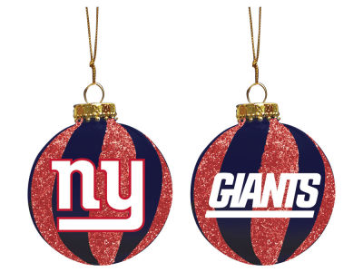 "New York Giants Memory Company 3"" Sparkle Glass Ball Ornament"