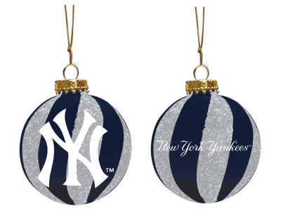 "New York Yankees Memory Company 3"" Sparkle Glass Ball Ornament"