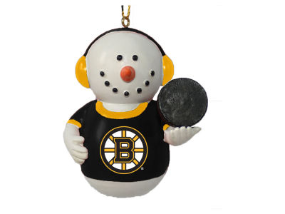 Boston Bruins Memory Company Snowman With Earmuffs Ornament