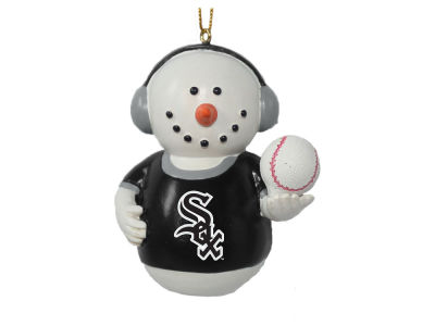 Chicago White Sox Memory Company Snowman With Earmuffs Ornament