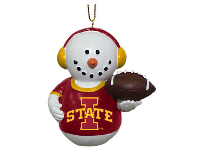 Iowa State Cyclones Memory Company Snowman With Earmuffs Ornament