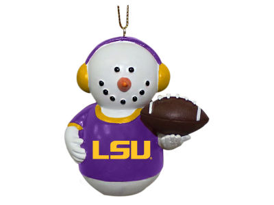 LSU Tigers Memory Company Snowman With Earmuffs Ornament