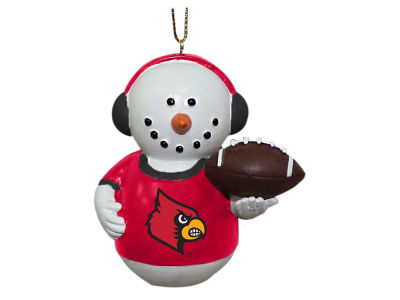 Louisville Cardinals Memory Company Snowman With Earmuffs Ornament