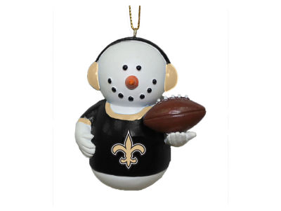 New Orleans Saints Memory Company Snowman With Earmuffs Ornament