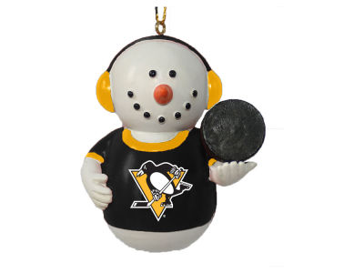 Pittsburgh Penguins Memory Company Snowman With Earmuffs Ornament