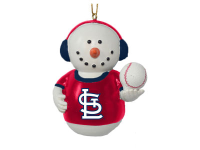 St. Louis Cardinals Memory Company Snowman With Earmuffs Ornament