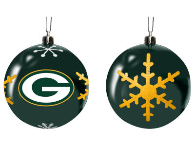 "Green Bay Packers Memory Company 3"" Snowflake Plastic Ball Ornament"