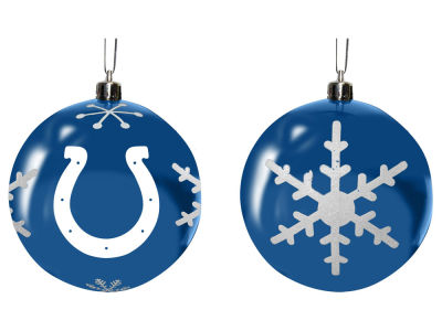"Indianapolis Colts Memory Company 3"" Snowflake Plastic Ball Ornament"