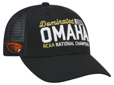 Oregon State Beavers Top of the World 2018 NCAA College World Series Locker Room Champ Adjustable Cap