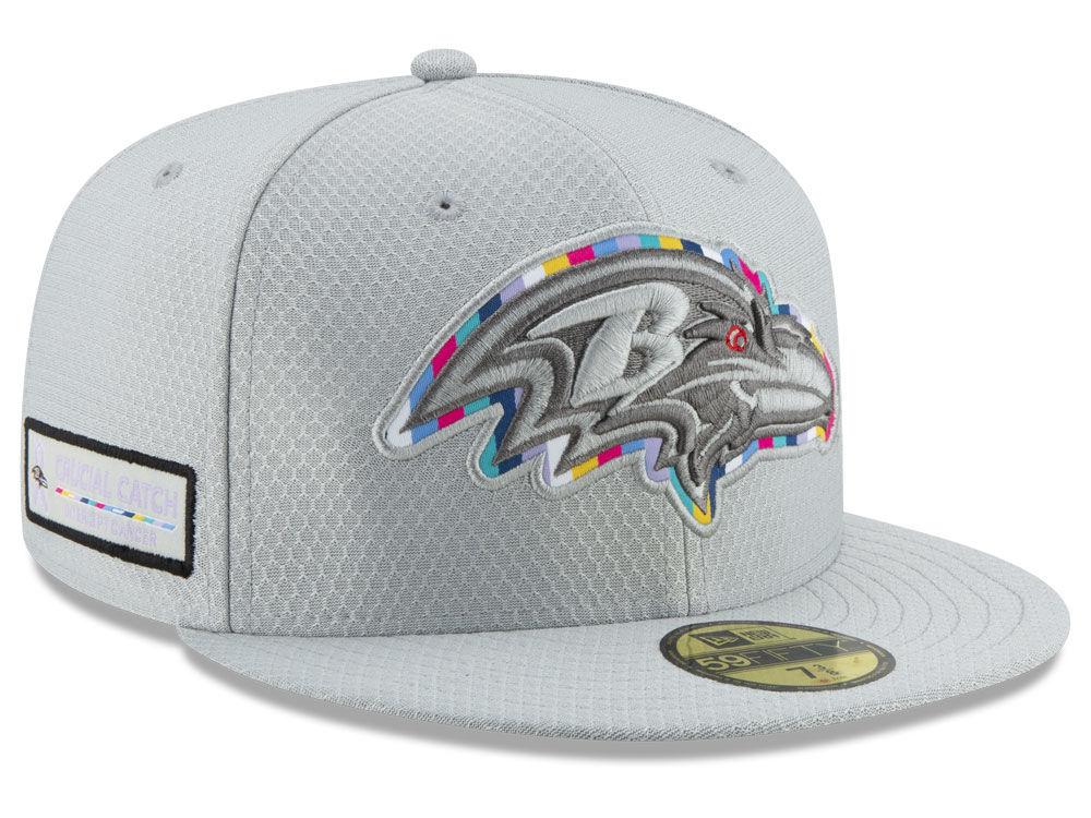 c48cf1853 Baltimore Ravens New Era 2018 NFL Crucial Catch 59FIFTY Cap