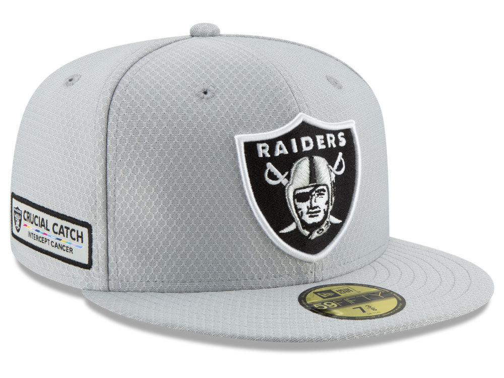 678aff8f2 Oakland Raiders New Era 2018 NFL Crucial Catch 59FIFTY Cap