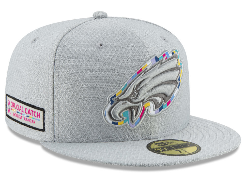 Philadelphia Eagles New Era 2018 NFL Crucial Catch 59FIFTY Cap ... c0dfbe994