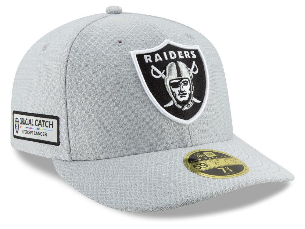 Oakland Raiders New Era 2018 NFL Crucial Catch Low Profile 59FIFTY Cap  4920d7f65