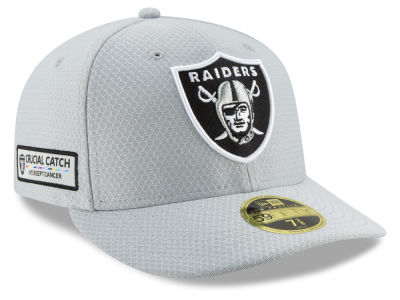 Oakland Raiders New Era 2018 NFL Crucial Catch Low Profile 59FIFTY Cap 8e292b6dc31