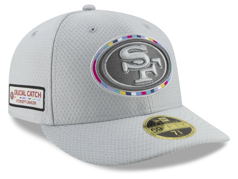 6517c094127 San Francisco 49ers New Era 2018 NFL Crucial Catch Low Profile 59FIFTY Cap