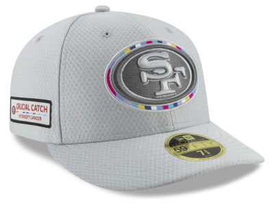 San Francisco 49ers New Era 2018 NFL Crucial Catch Low Profile 59FIFTY Cap