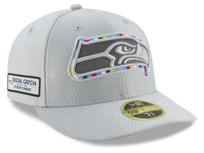 Seattle Seahawks New Era 2018 NFL Crucial Catch Low Profile 59FIFTY Cap