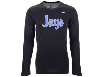 Johns Hopkins Blue Jays Nike NCAA Men's Dri-Fit Legend Wordmark Long Sleeve T-shirt