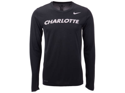 Charlotte 49ers Nike NCAA Men's Dri-Fit Legend Wordmark Long Sleeve T-shirt