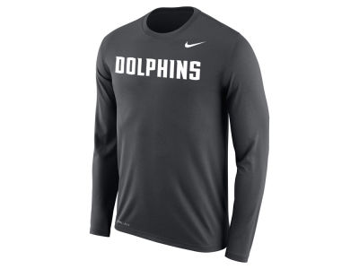 Jacksonville Dolphins Nike NCAA Men's Dri-Fit Legend Wordmark Long Sleeve T-shirt