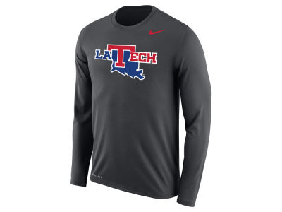 Louisiana Tech Bulldogs Nike NCAA Men's Dri-Fit Legend Wordmark Long Sleeve T-shirt