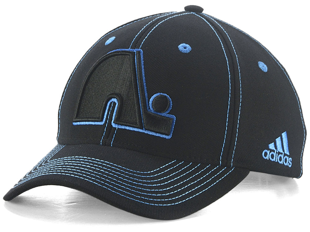 Quebec Nordiques adidas NHL Bar Down Adjustable Cap  d917e3750