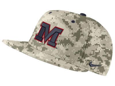 d66c449654d Ole Miss Rebels Nike NCAA Aerobill True Fitted Baseball Cap