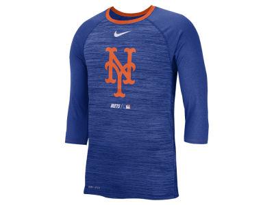 New York Mets Nike MLB Men s Velocity Raglan T-Shirt fa2e5e684c6e