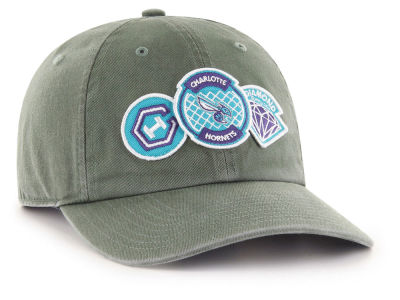 Charlotte Hornets '47 Diamond Patch '47 CLEAN UP MF Cap