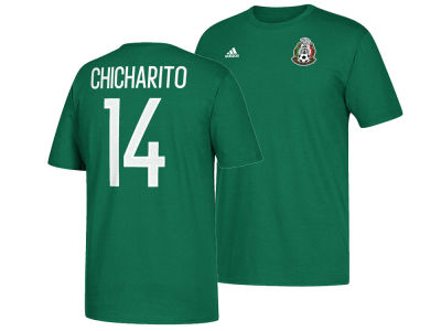 Mexico Chicharito adidas Men's National Team Jersey Hook Player T-Shirt