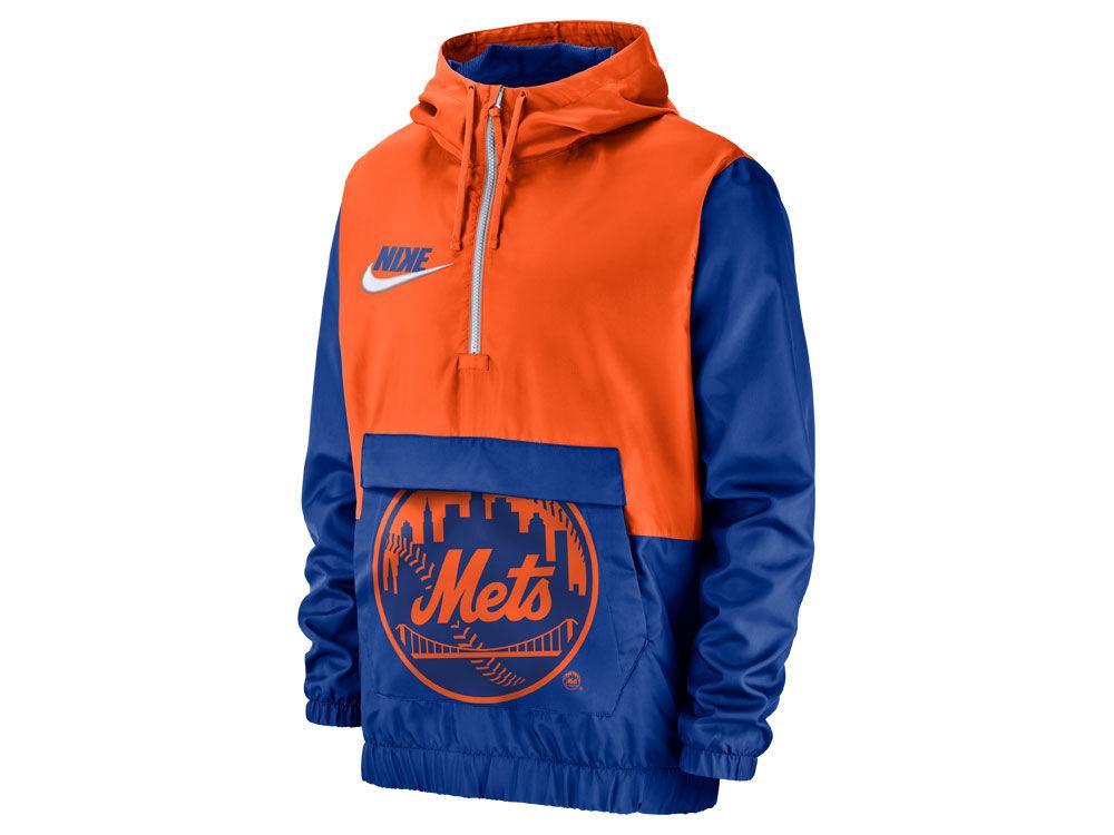 433b9d7ea4 New York Mets Nike MLB Men s Walkoff Anorak Jacket