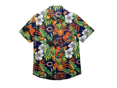 Chicago Bears Forever Collectibles NFL Men's Floral Camp Shirt