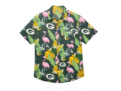 Green Bay Packers Forever Collectibles NFL Men's Floral Camp Shirt
