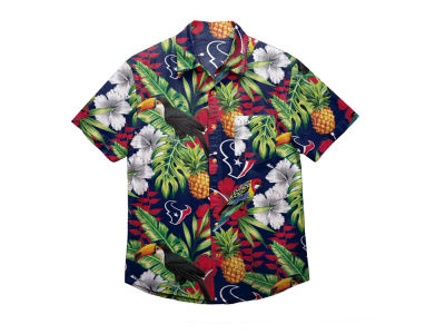 Houston Texans Forever Collectibles NFL Men's Floral Camp Shirt