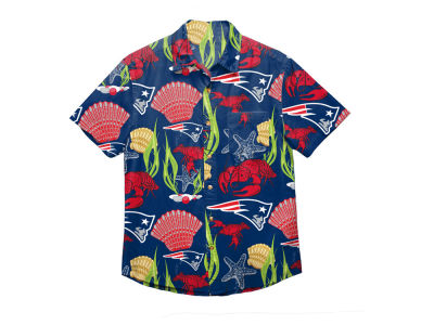New England Patriots Forever Collectibles NFL Men's Floral Camp Shirt