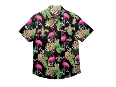 New Orleans Saints Forever Collectibles NFL Men's Floral Camp Shirt