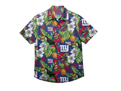 New York Giants Forever Collectibles NFL Men's Floral Camp Shirt