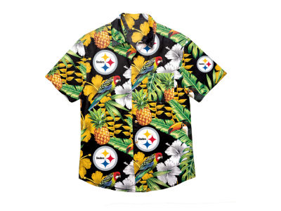 Pittsburgh Steelers Forever Collectibles NFL Men's Floral Camp Shirt